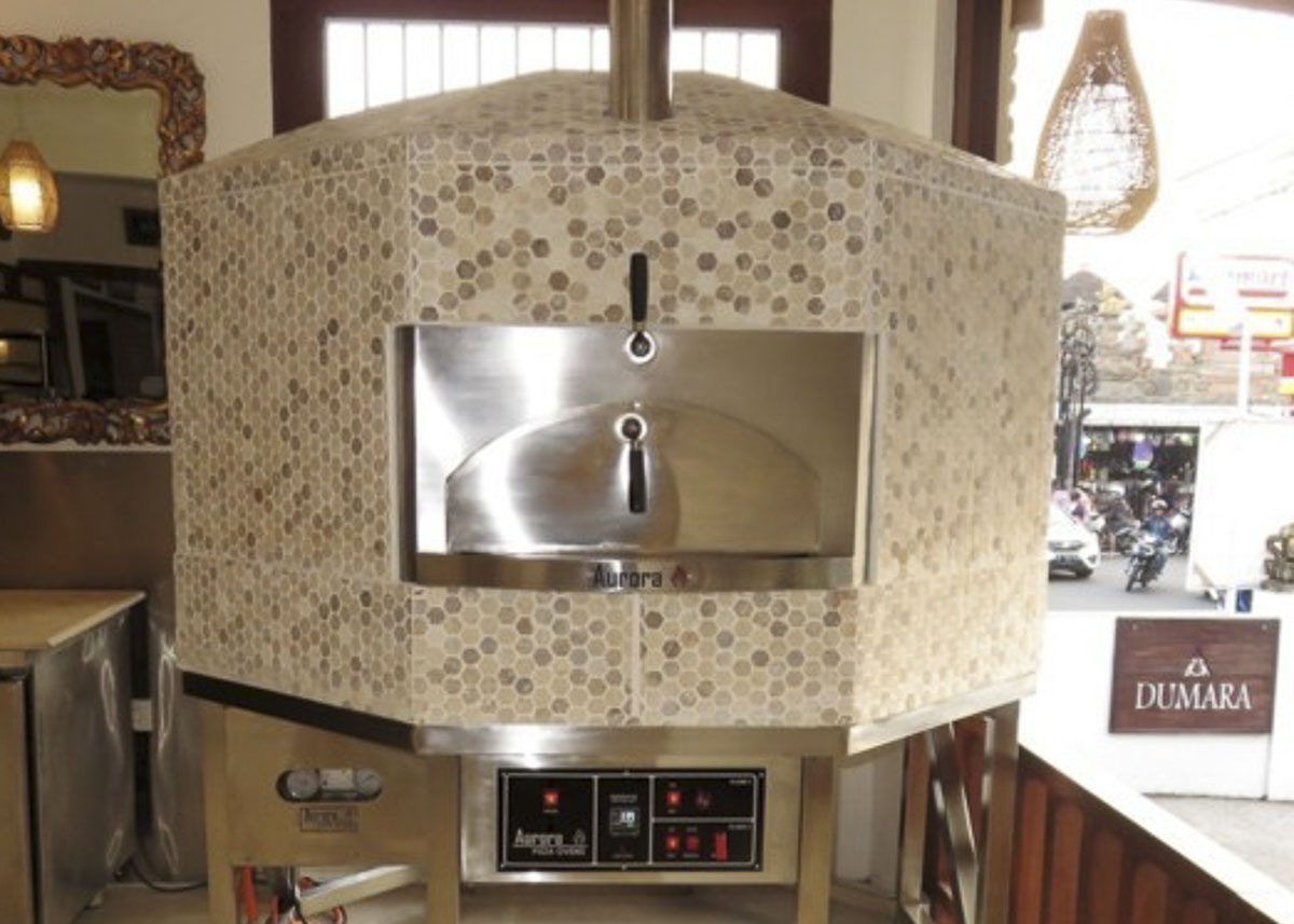 Aurora 120 CeramicBrown Oven Pizza Brick Lava Stones Wood Gas Bali Indonesia Asia 400 1