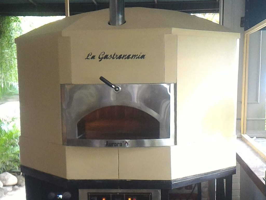 Aurora 120 Cream Oven Pizza Brick Lava Stones Wood Gas Bali Indonesia Asia 400