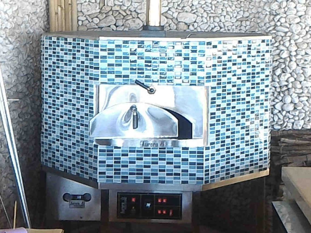 Aurora 120 MosaicBlue Oven Pizza Brick Lava Stones Wood Gas Bali Indonesia Asia 400