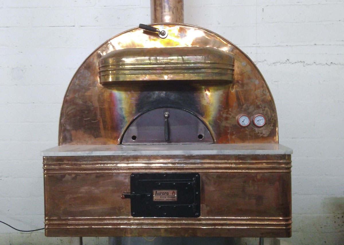 Aurora 90 Brass Oven Pizza Brick Lava Stones Wood Gas Bali Indonesia Asia 300