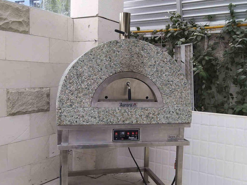 Aurora 90 MosaicStone Oven Pizza Brick Lava Stones Wood Gas Bali Indonesia Asia 200