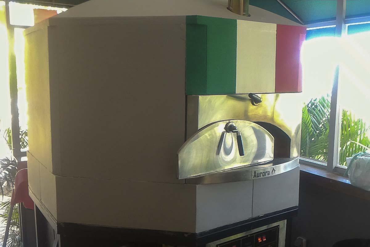 Aurora 120 FlagItaly Oven Pizza Brick Lava Stones Wood Gas Bali Indonesia Asia 400 076