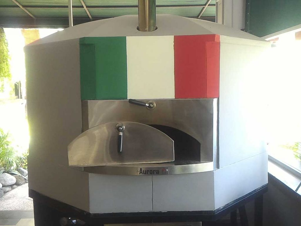 Aurora 120 FlagItaly Oven Pizza Brick Lava Stones Wood Gas Bali Indonesia Asia 500 064