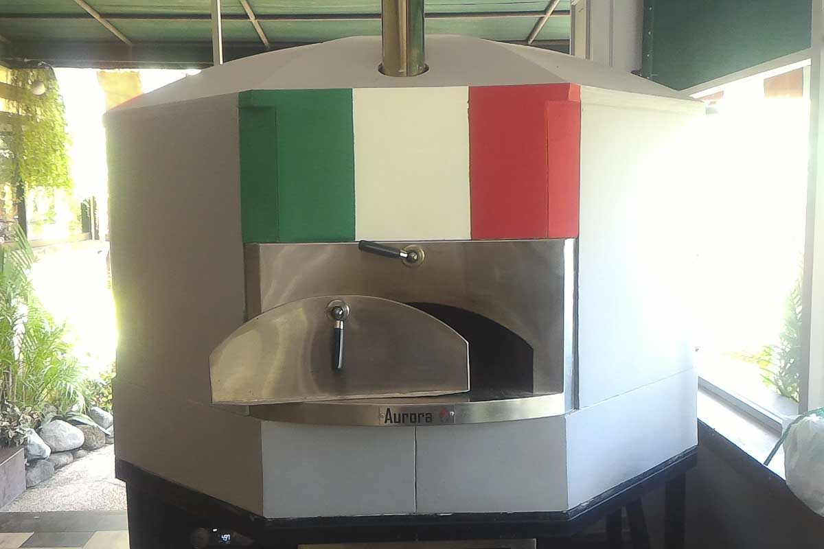 Aurora 120 FlagItaly Oven Pizza Brick Lava Stones Wood Gas Bali Indonesia Asia 500 064