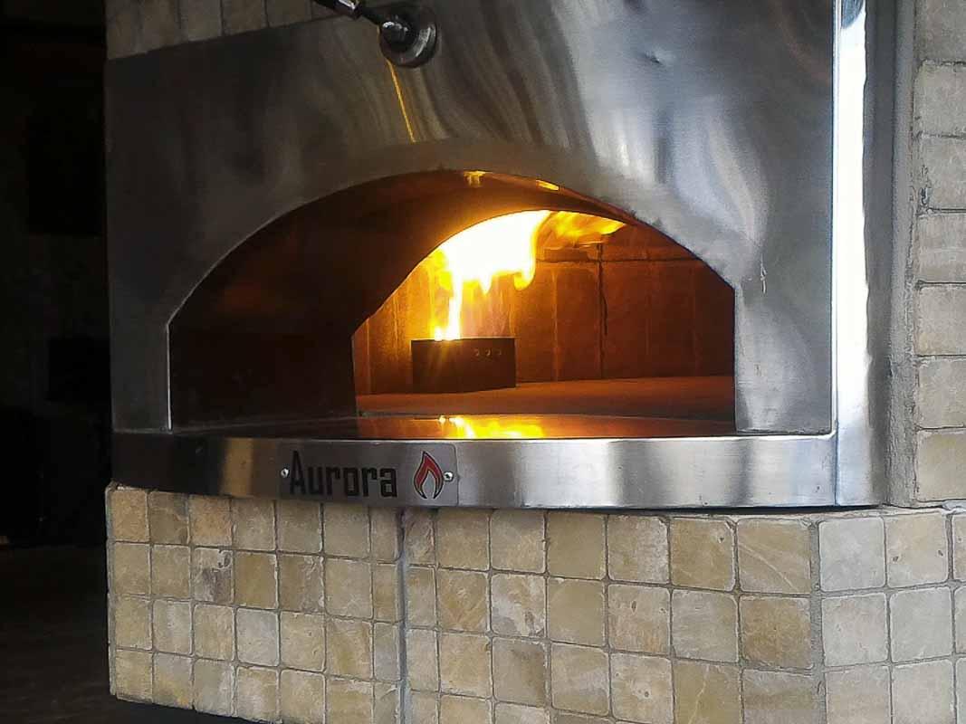 Aurora 120 brown Oven Pizza Brick Lava Stones Wood Gas Bali Indonesia Asia 400 038