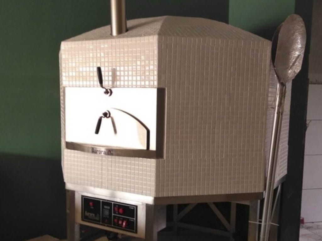 Aurora 120 ceramicwhite Oven Pizza Brick Lava Stones Wood Gas Bali Indonesia Asia 400 003