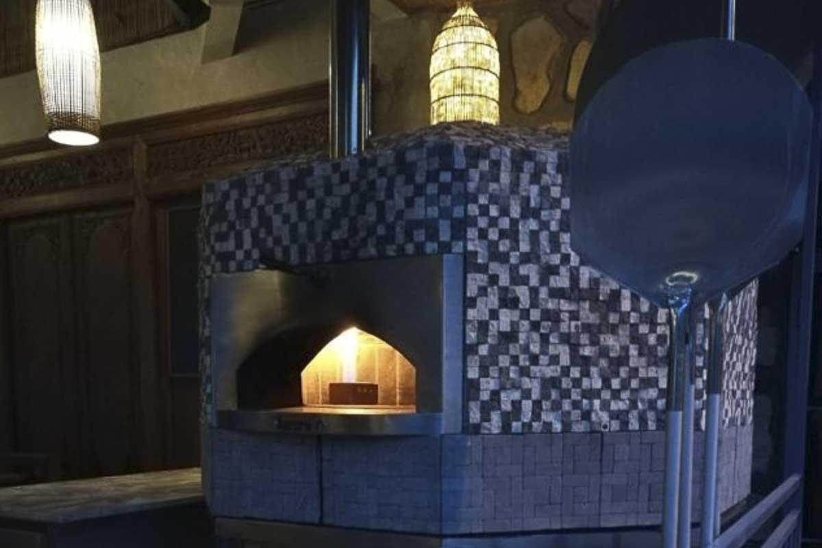 Aurora 120 mosaic Oven Pizza Brick Lava Stones Wood Gas Bali Indonesia Asia 400 029