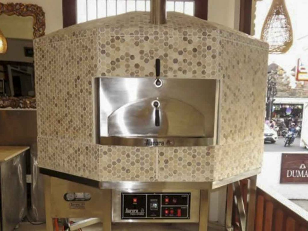 Aurora 120 mosaic Oven Pizza Brick Lava Stones Wood Gas Bali Indonesia Asia 400 031