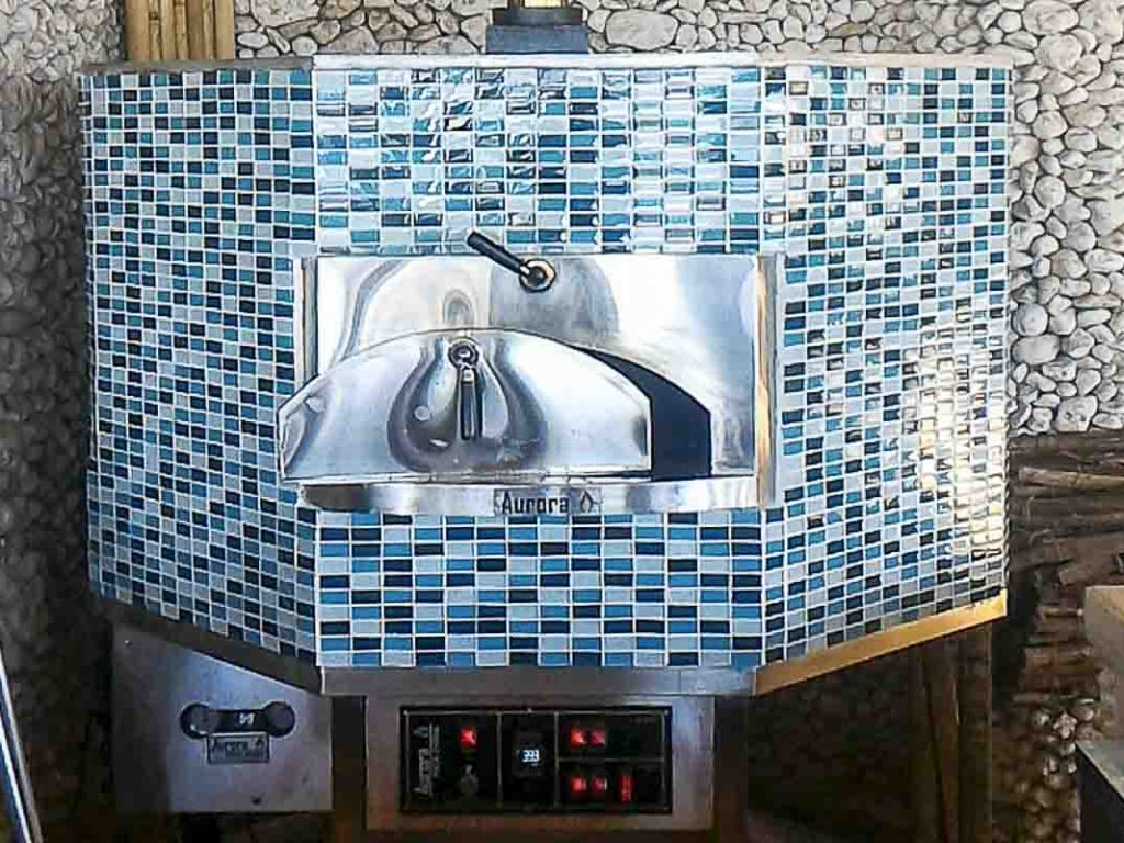 Aurora 120 mosaic Oven Pizza Brick Lava Stones Wood Gas Bali Indonesia Asia 400 062