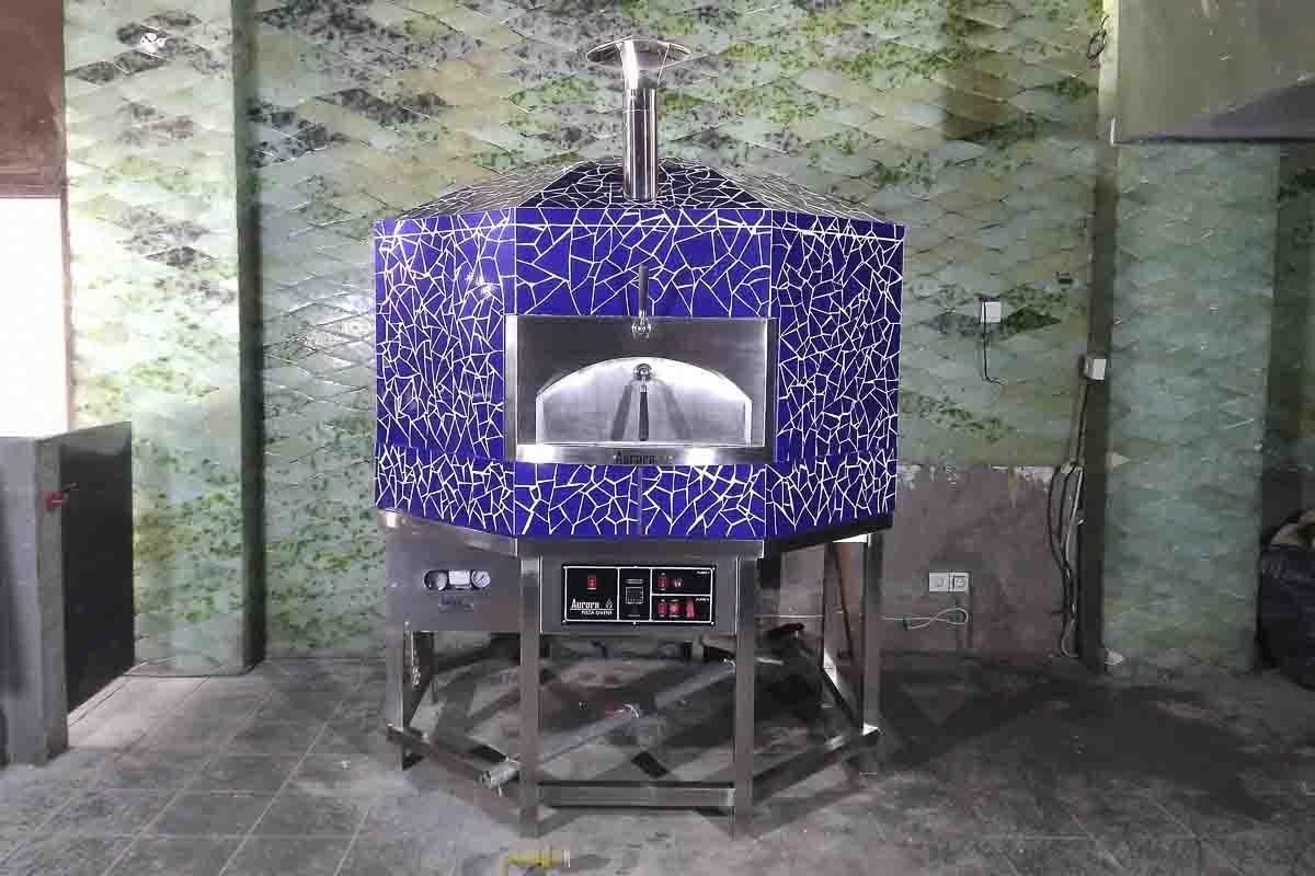 Aurora 120 mosaicblue Oven Pizza Brick Lava Stones Wood Gas Bali Indonesia Asia 400 070