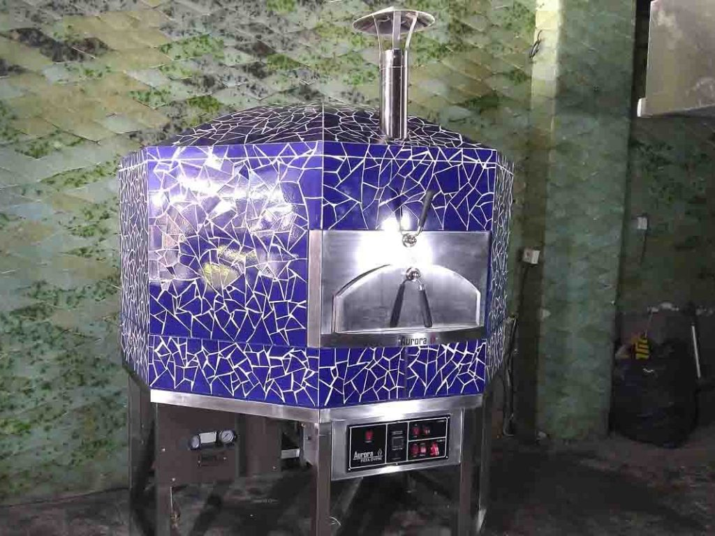 Aurora 120 mosaicblue Oven Pizza Brick Lava Stones Wood Gas Bali Indonesia Asia 400 072