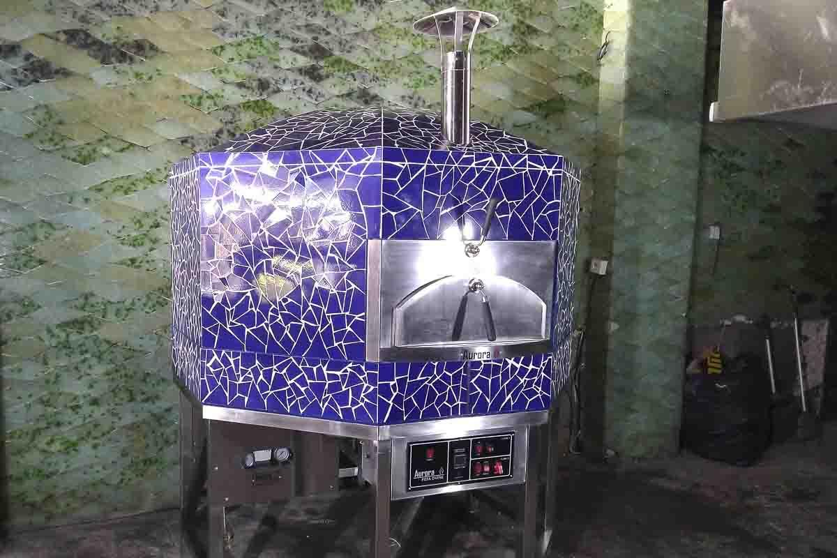 Aurora 120 mosaicblue Oven Pizza Brick Lava Stones Wood Gas Bali Indonesia Asia 400 072