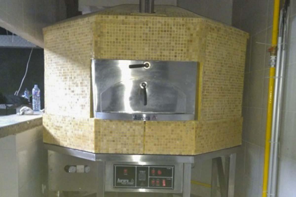 Aurora 120 mosaiccream Oven Pizza Brick Lava Stones Wood Gas Bali Indonesia Asia 400 013