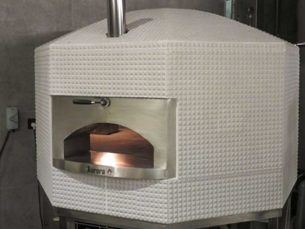 Aurora 120 white Oven Pizza Brick Lava Stones Wood Gas Bali Indonesia Asia 400 026