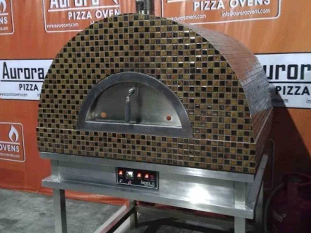 Aurora 90 brown Oven Pizza Brick Lava Stones Wood Gas Bali Indonesia Asia 200 012