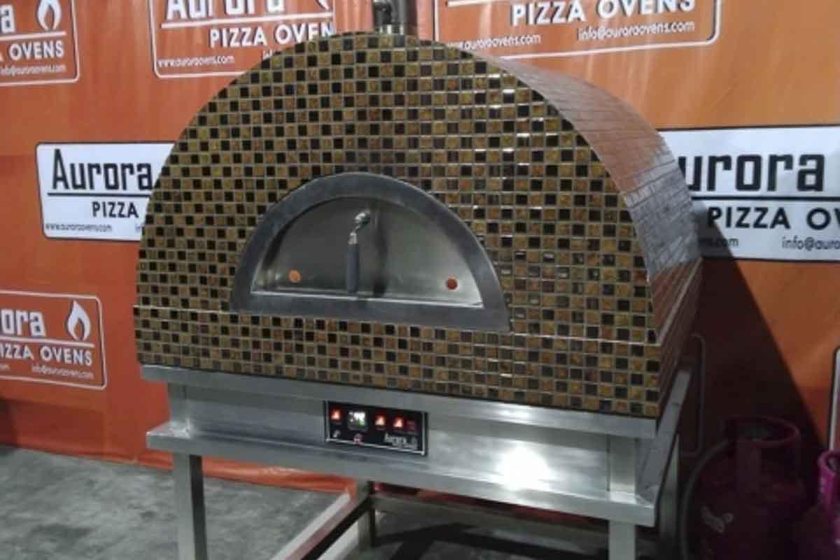 Aurora 90 brown Oven Pizza Brick Lava Stones Wood Gas Bali Indonesia Asia 200 012