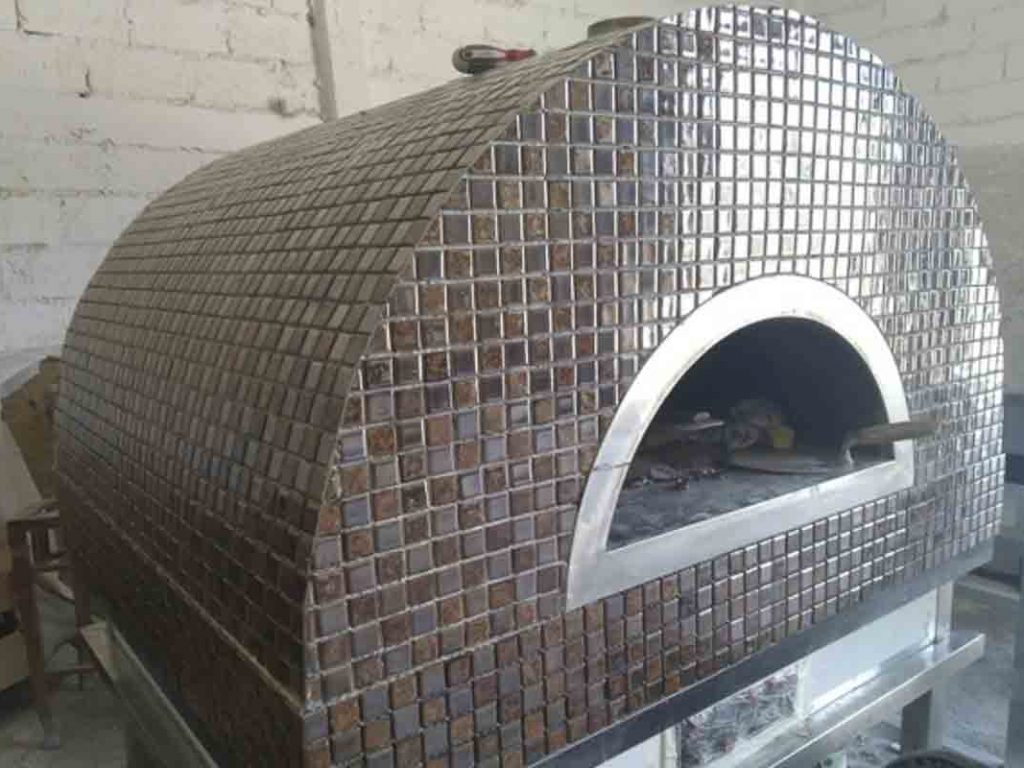 Aurora 90 brown Oven Pizza Brick Lava Stones Wood Gas Bali Indonesia Asia 200 014