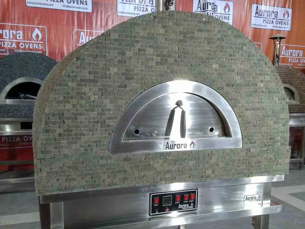 Aurora 90 brownstone Oven Pizza Brick Lava Stones Wood Gas Bali Indonesia Asia 200 043