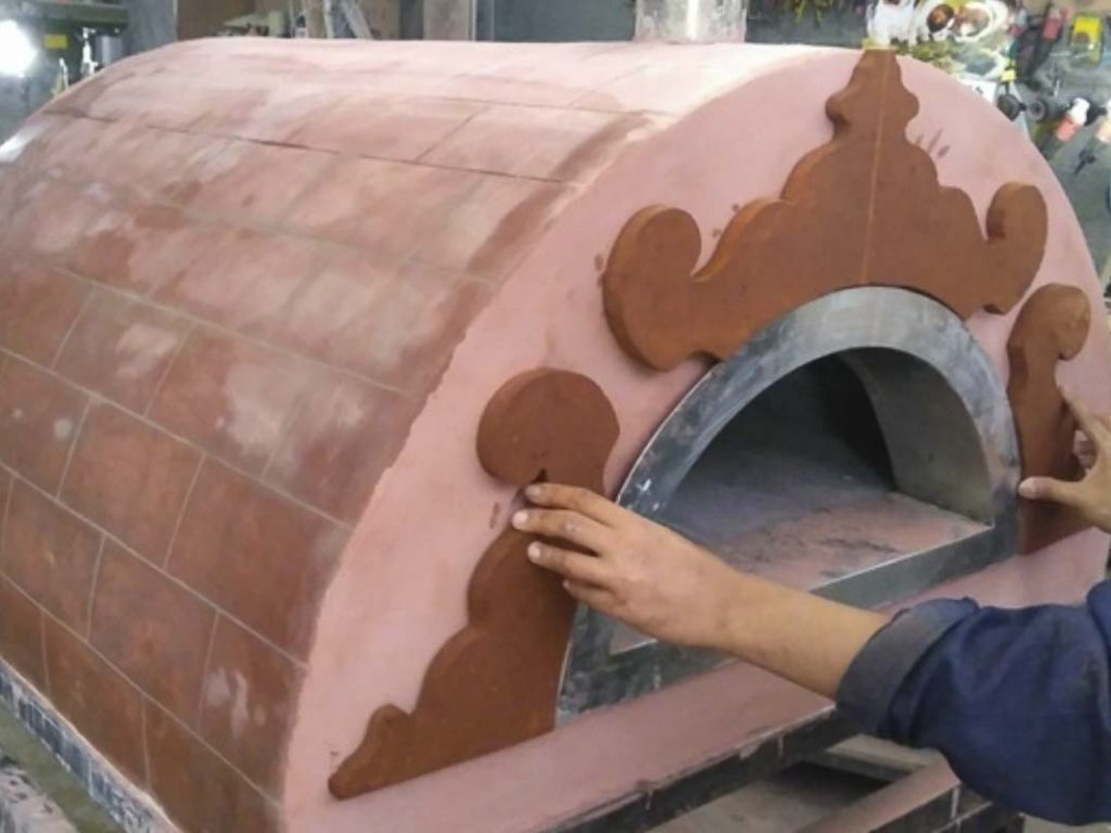 Aurora 90 custom Oven Pizza Brick Lava Stones Wood Gas Bali Indonesia Asia 200 020