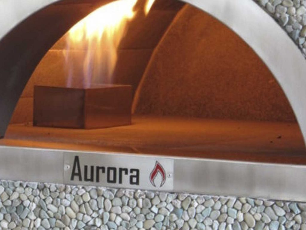 Aurora 90 mosaic Oven Pizza Brick Lava Stones Wood Gas Bali Indonesia Asia 200 003