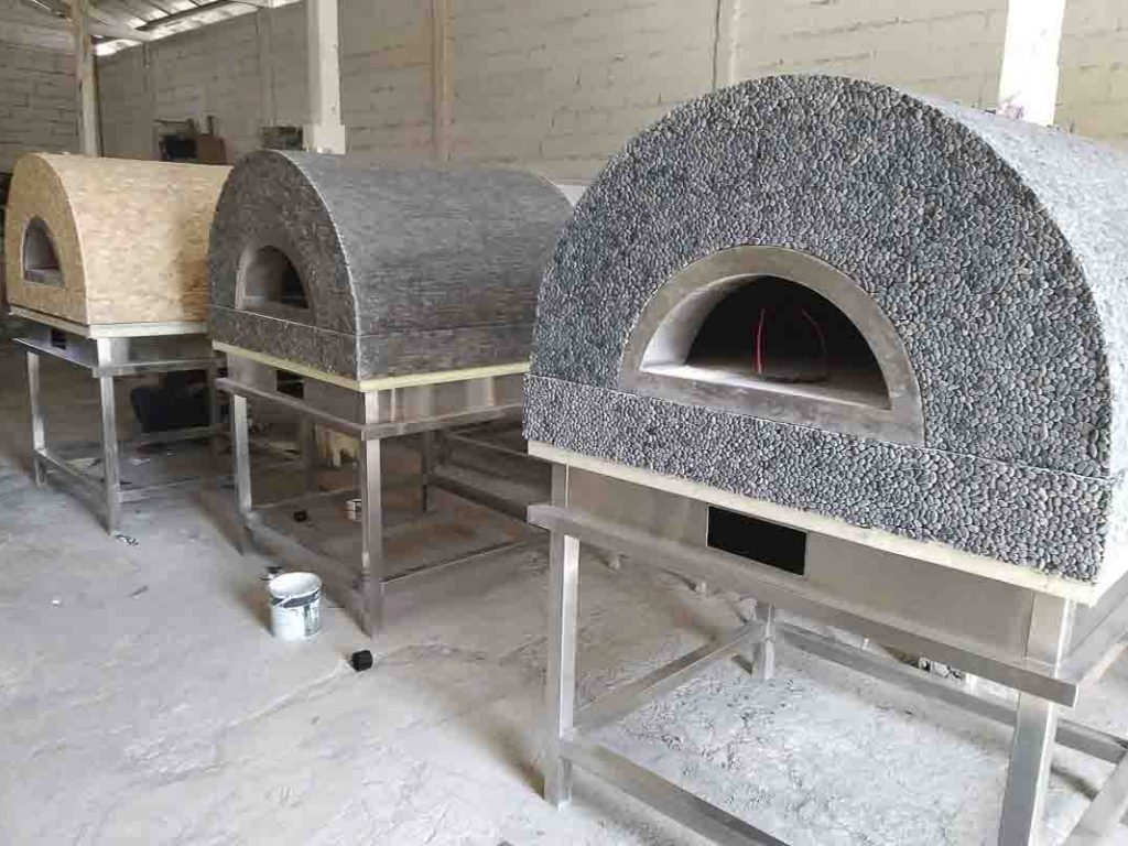 Aurora 90 mosaic Oven Pizza Brick Lava Stones Wood Gas Bali Indonesia Asia 200 044