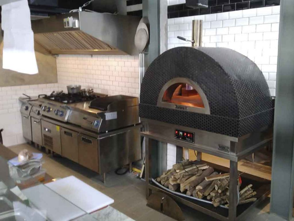 Aurora 90 mosaicblack Oven Pizza Brick Lava Stones Wood Gas Bali Indonesia Asia 200 031