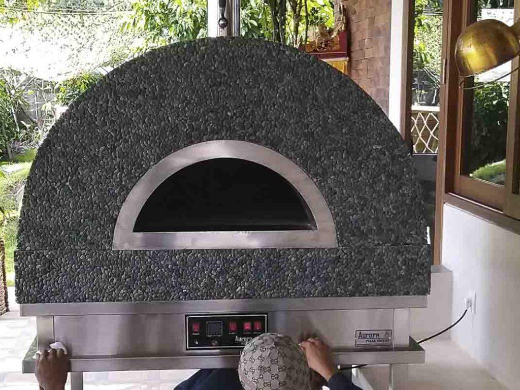 Aurora 90 mosaicblackstone Oven Pizza Brick Lava Stones Wood Gas Bali Indonesia Asia 200 049
