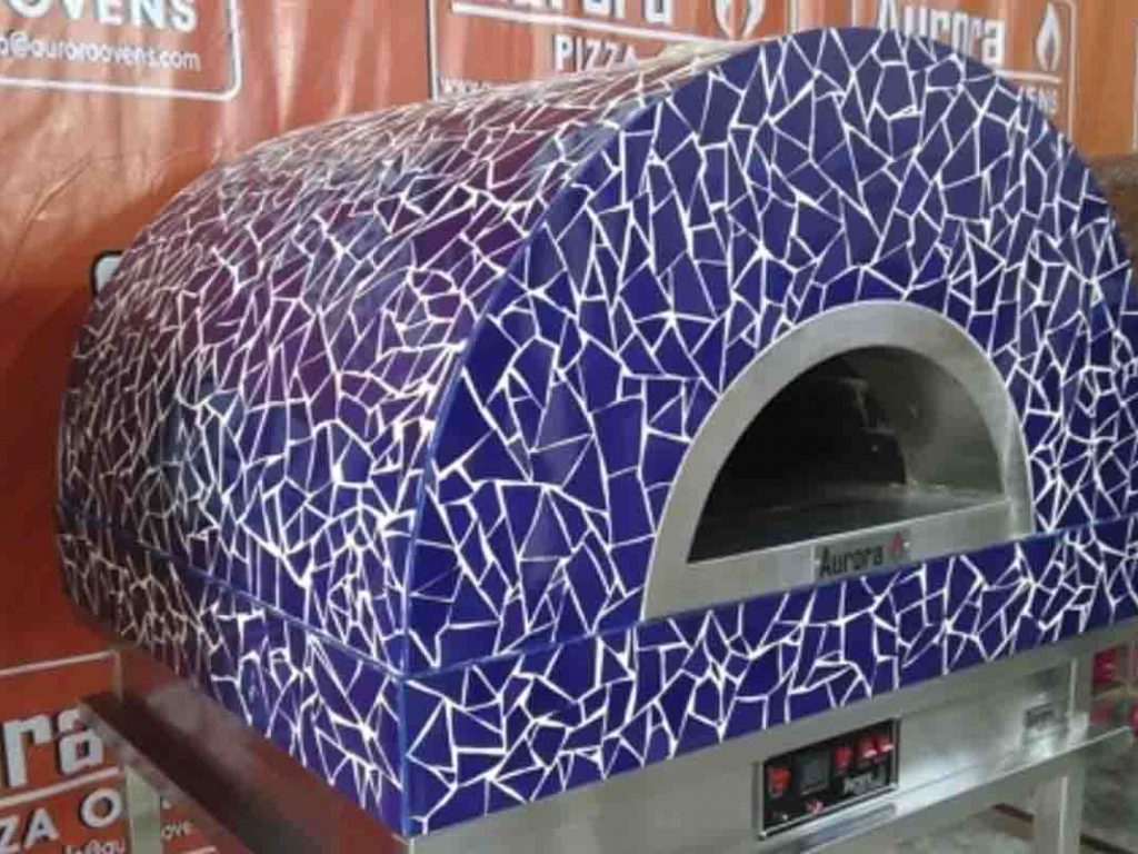 Aurora 90 mosaicblue Oven Pizza Brick Lava Stones Wood Gas Bali Indonesia Asia 200 008