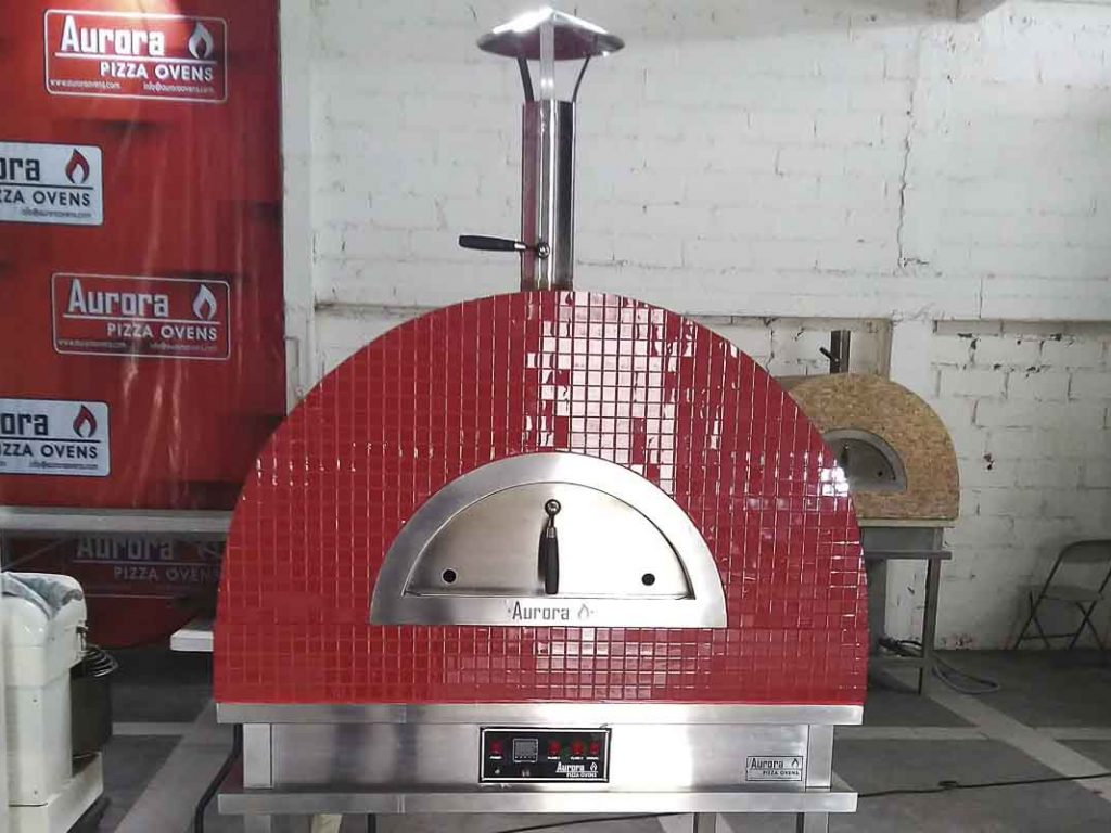 Aurora 90 red Oven Pizza Brick Lava Stones Wood Gas Bali Indonesia Asia 200 035