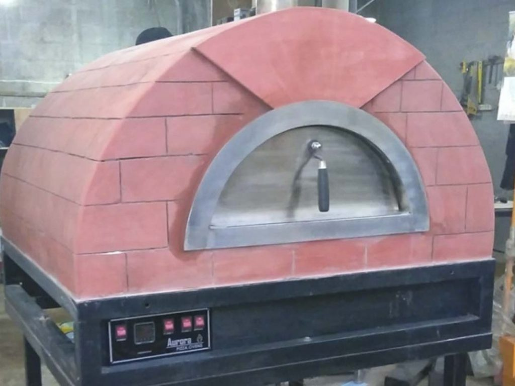Aurora 90 rose Oven Pizza Brick Lava Stones Wood Gas Bali Indonesia Asia 200 007
