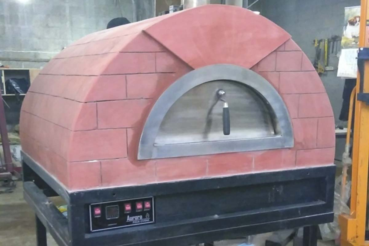 Aurora 90 rose Oven Pizza Brick Lava Stones Wood Gas Bali Indonesia Asia 200 007
