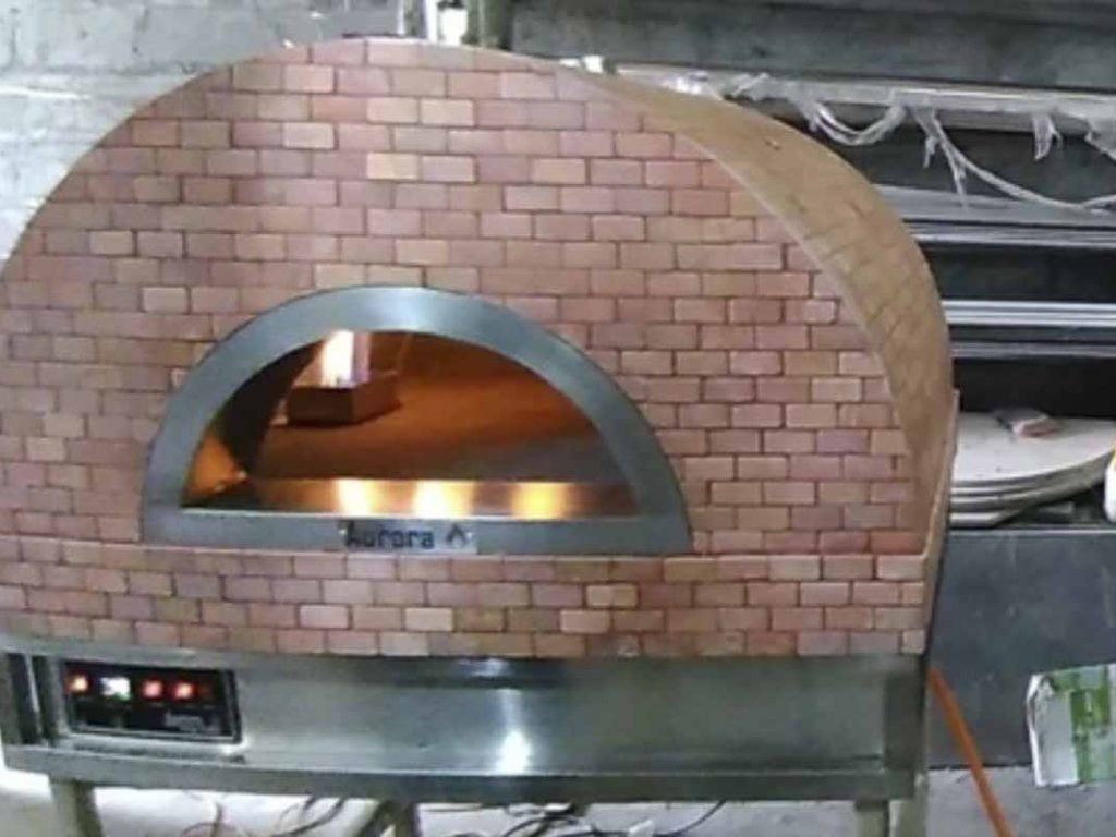 Aurora 90 rose Oven Pizza Brick Lava Stones Wood Gas Bali Indonesia Asia 200 019
