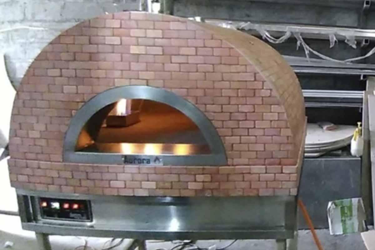 Aurora 90 rose Oven Pizza Brick Lava Stones Wood Gas Bali Indonesia Asia 200 019