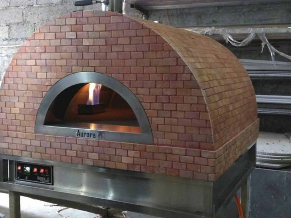 Aurora 90 rose Oven Pizza Brick Lava Stones Wood Gas Bali Indonesia Asia 200 052