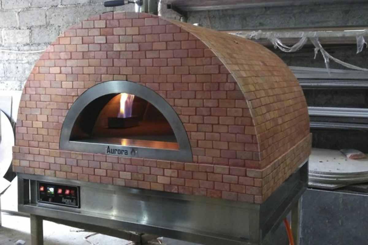 Aurora 90 rose Oven Pizza Brick Lava Stones Wood Gas Bali Indonesia Asia 200 052