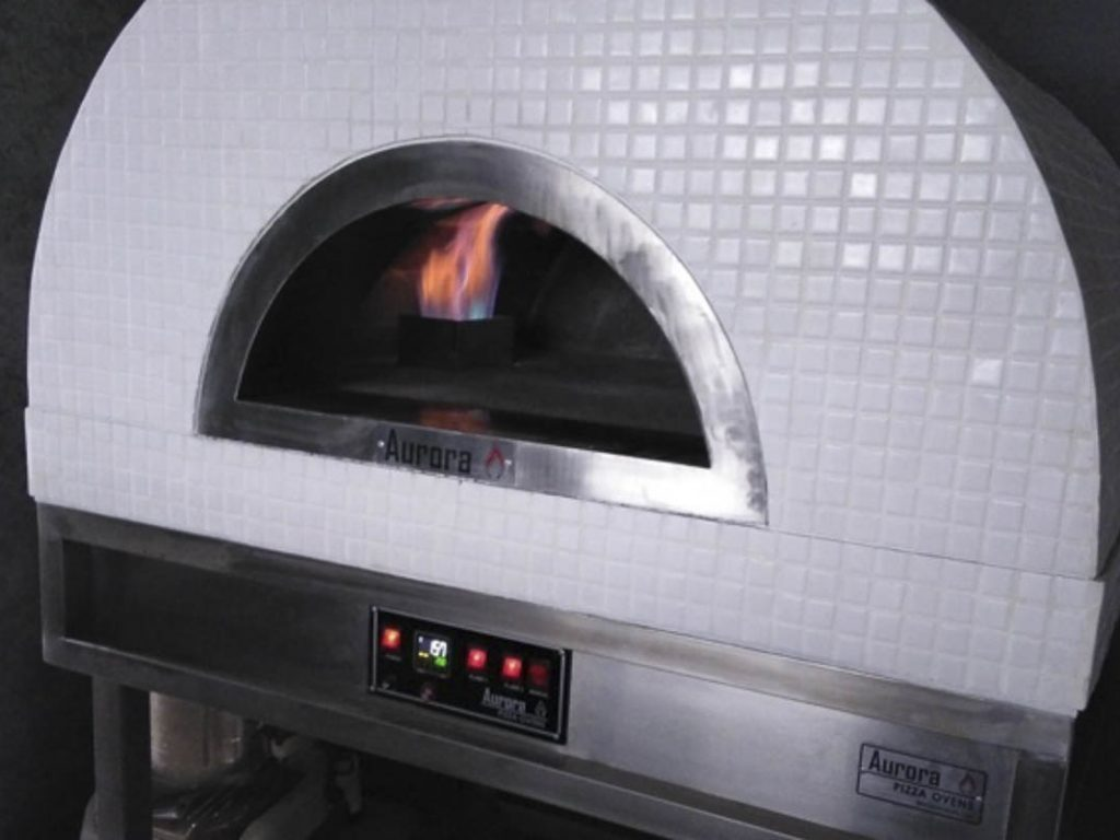 Aurora 90 white Oven Pizza Brick Lava Stones Wood Gas Bali Indonesia Asia 200 015