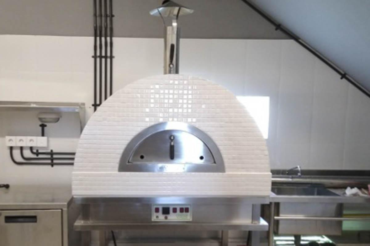 Aurora 90 white Oven Pizza Brick Lava Stones Wood Gas Bali Indonesia Asia 200 017