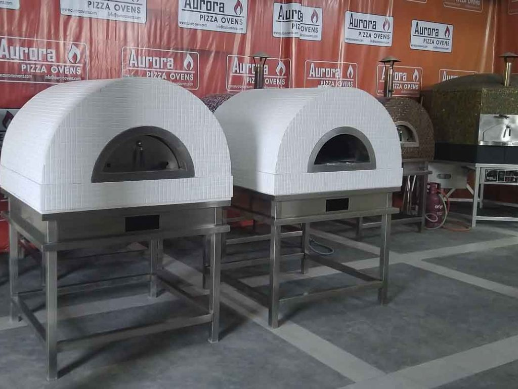 Aurora 90 white Oven Pizza Brick Lava Stones Wood Gas Bali Indonesia Asia 200 053